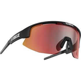 Bliz Matrix M12 Gafas, matt black/brown with red multi